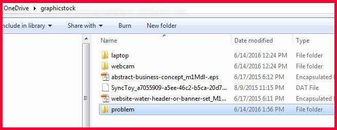 OneDrive Problem Folder